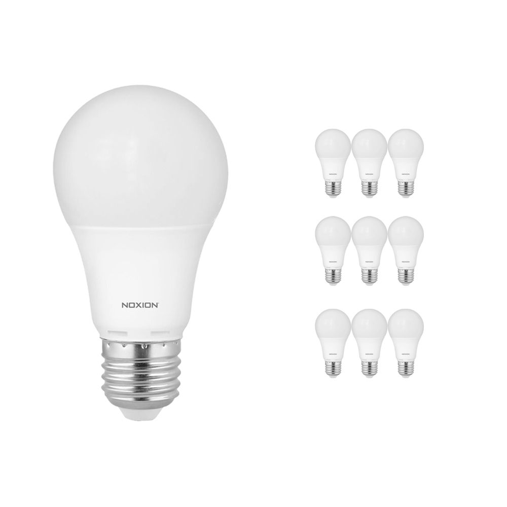 Mehrfachpackung 10x Noxion PRO LED Bulb A60 E27 7W 827 Matt | Extra Warmweiß - Dimmbar - Ersatz für 40W