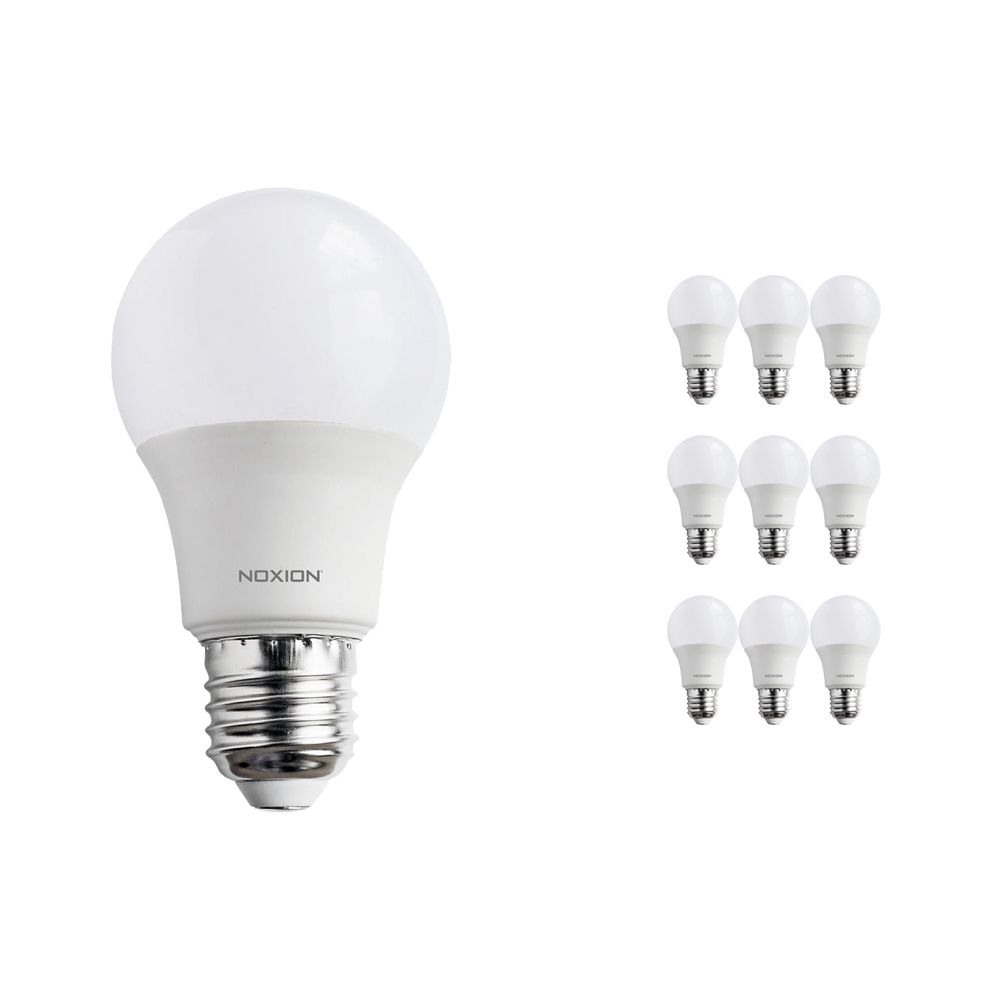 Multipack 10x Noxion PRO LED Bulb A60 E27 9W 822-827 Frosted | Dimmable - Extra Warm White - Replaces 60W