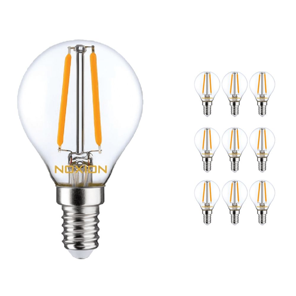 Multipack 10x Noxion Lucent LED Lustre E14 2.5W 827 Gloeilamp | Dimbaar - Vervanger voor 25W