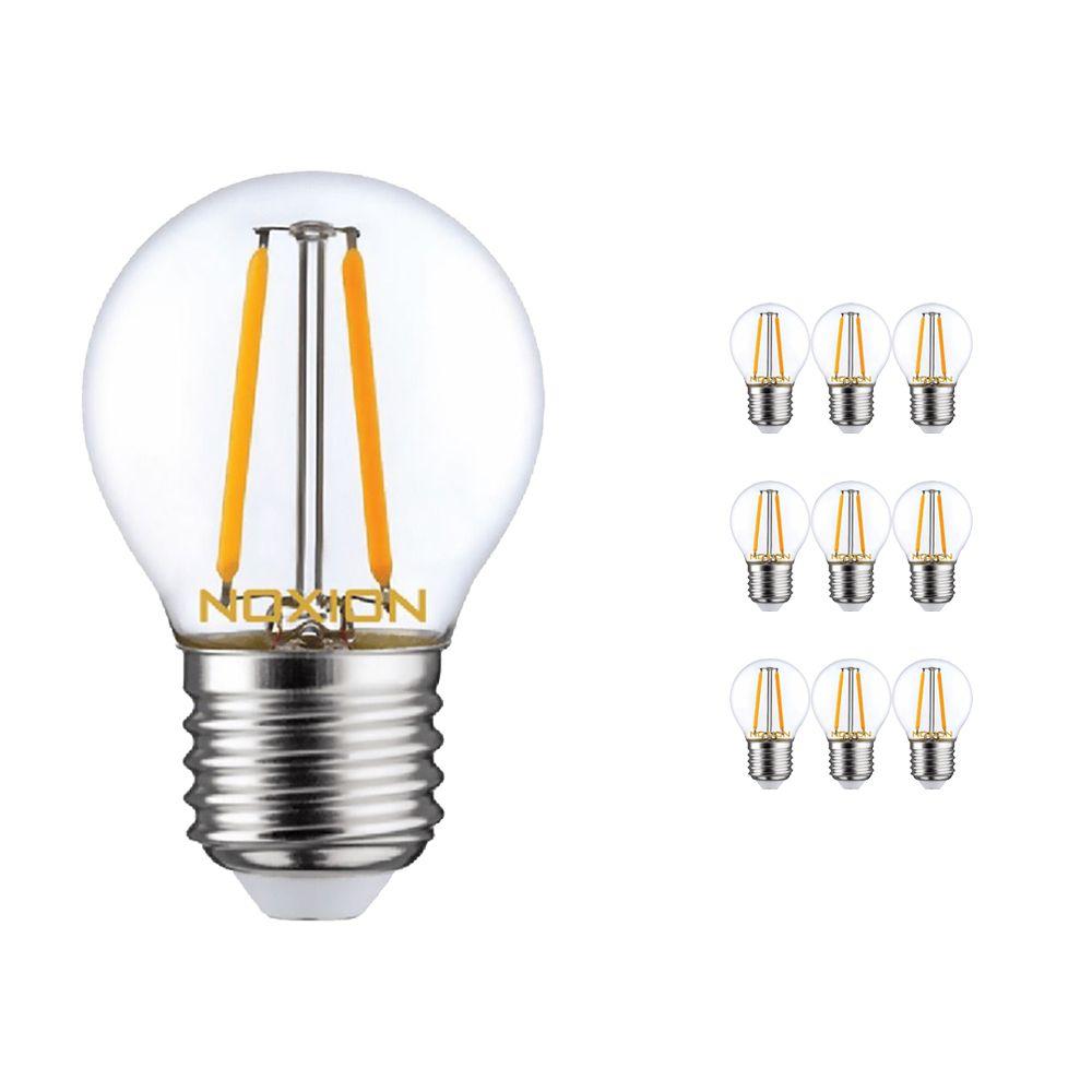 Monipakkaus 10x Noxion Lucent LED Lustre E27 2.6W 827 Filament | Erittäin Lämmin Valkoinen - Korvaa 25W