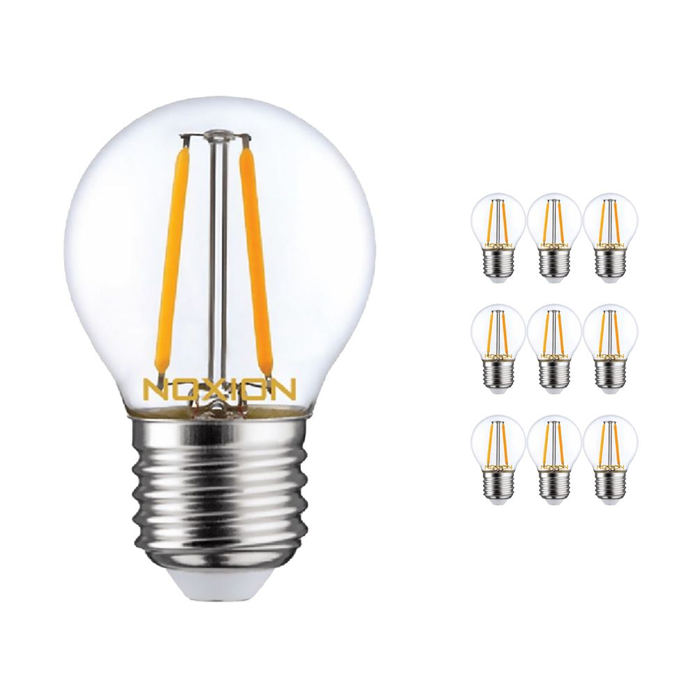 Multipack 10x Noxion Lucent LED Lustre E27 2.5W 827 Filament | Extra Warm White - Dimmable - Replaces 25W