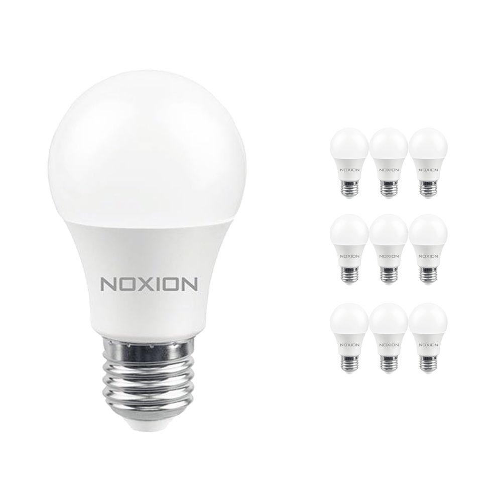 Multipack 10x Noxion Lucent LED Classic 5.5W 827 A60 E27 | Luz muy Cálida - Reemplazo 40W