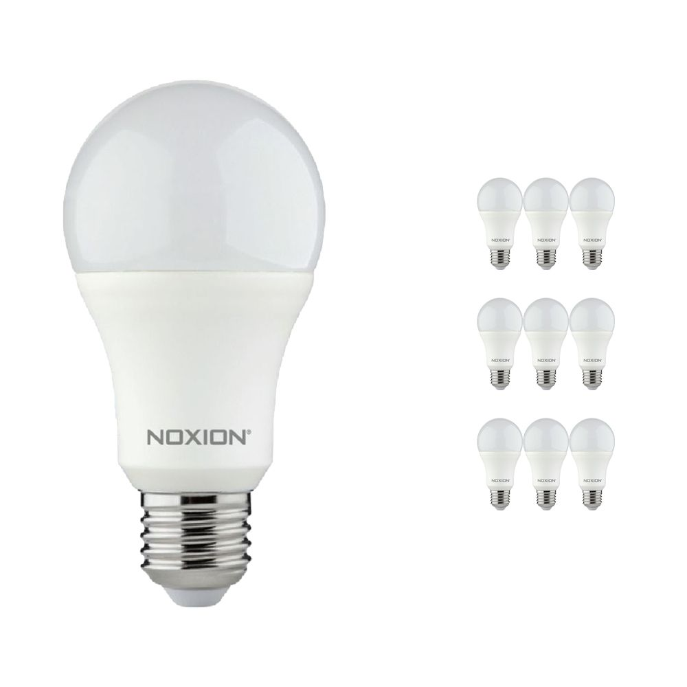 Lot 10x Noxion Lucent LED Classic 11W 827 A60 E27 | Blanc Très Chaud - Substitut 75W