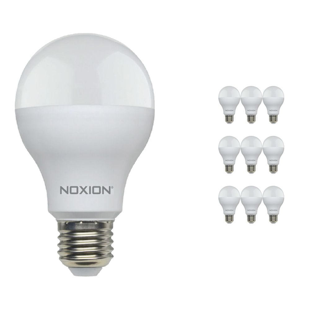 Lot 10x Noxion Lucent LED Classic 14W 827 A60 E27 | Dimmable - Blanc Très Chaud - Substitut 100W