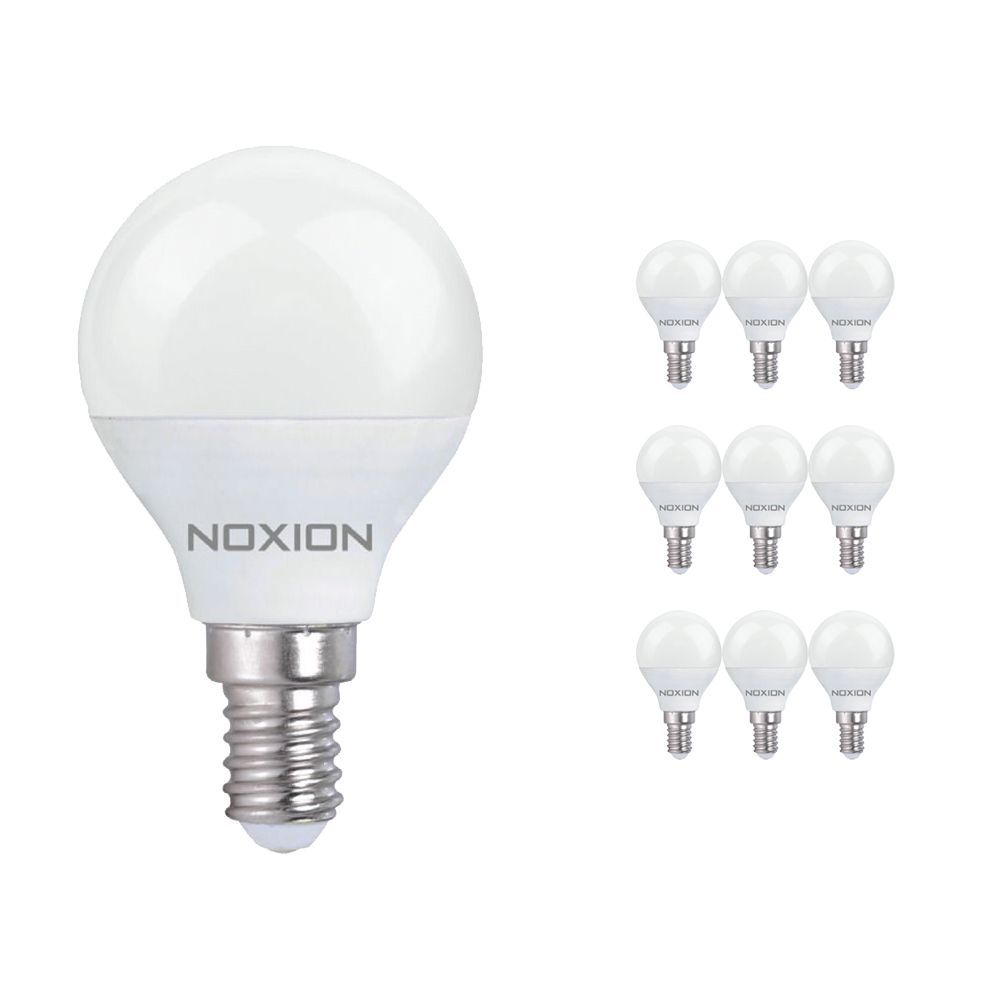Multipack 10x Noxion Lucent LED Classic Lustre 3W 827 P45 E14 | Replacer for 25W