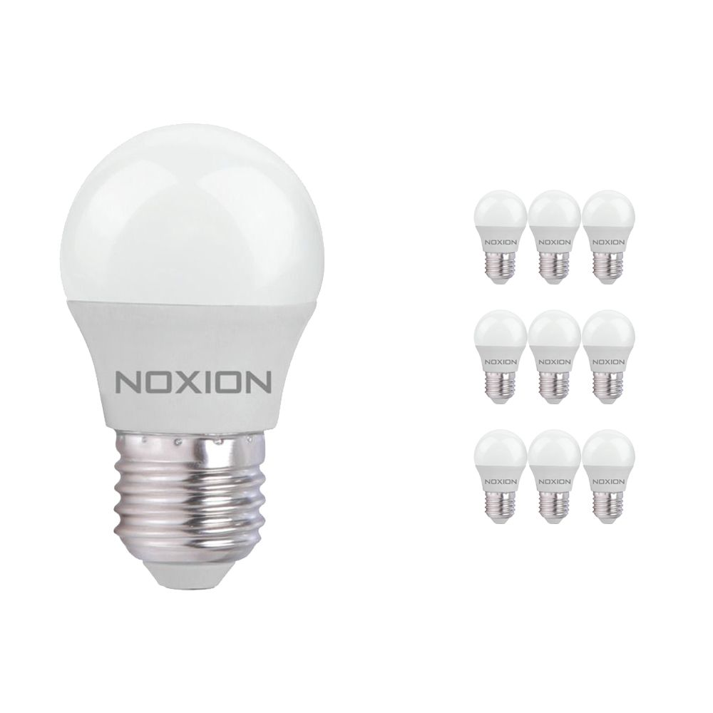 Mehrfachpackung 10x Noxion Lucent LED Classic Lustre 5W 827 P45 E27 | Extra Warmweiß - Ersatz für 40W