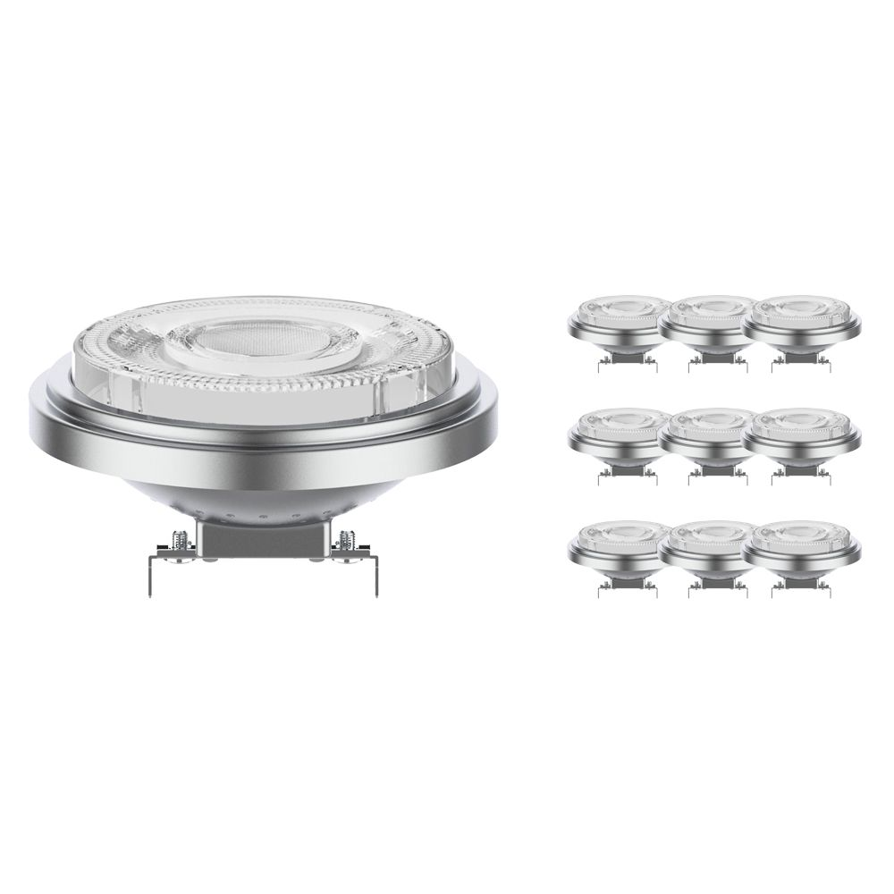 Multipack 10x Noxion Lucent LED Spot AR111 G53 12V 7.3W 930 24D | Dimmable - Highest Colour Rendering - Replacer for 50W