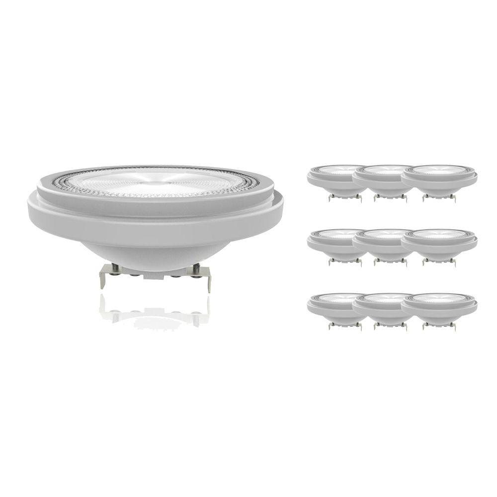 Flerpack 10x Noxion Lucent LED Spot AR111 G53 12V 7.3W 927 40D | Dimbar - Bästa färgåtergivning - Ersättare 50W