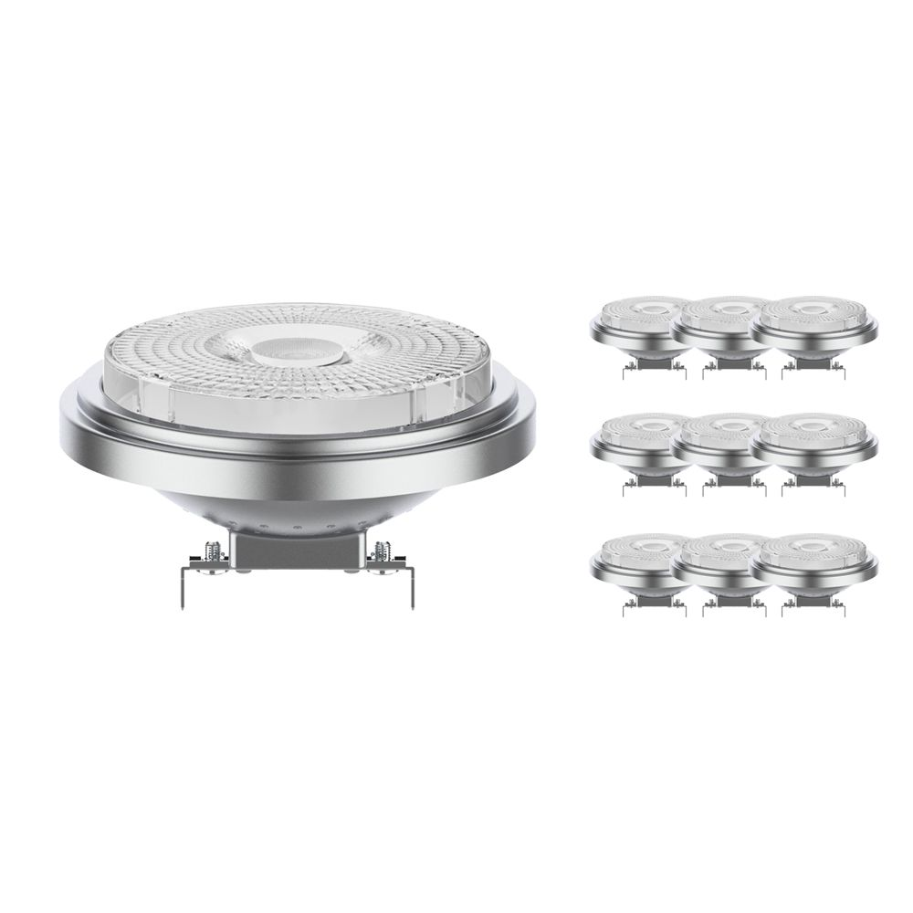 Multipack 10x Noxion Lucent LED Spot AR111 G53 12V 7.3W 930 40D | Dimmable - Highest Colour Rendering - Replacer for 50W