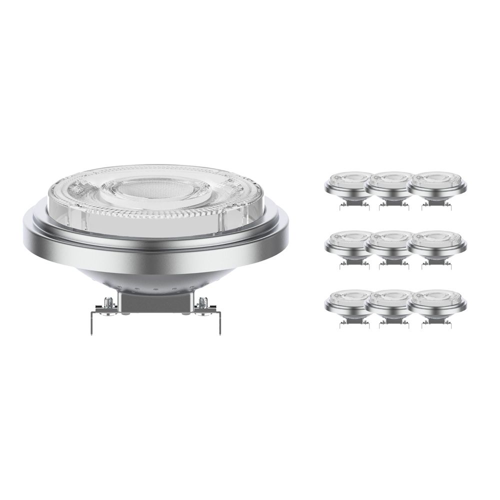Multipack 10x Noxion Lucent LED Spot AR111 G53 12V 11.5W 927 24D | Dimmable - Best Colour Rendering - Replaces 75W