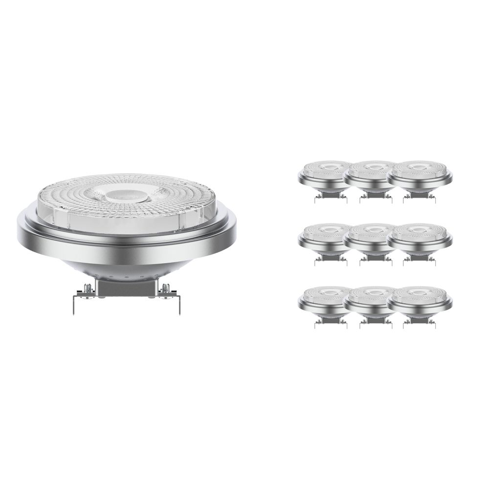 Multipack 10x Noxion Lucent LED Spot AR111 G53 12V 7.3W 918-927 40D | Dim toWarm - Highest Colour Rendering - Replacer for 50W