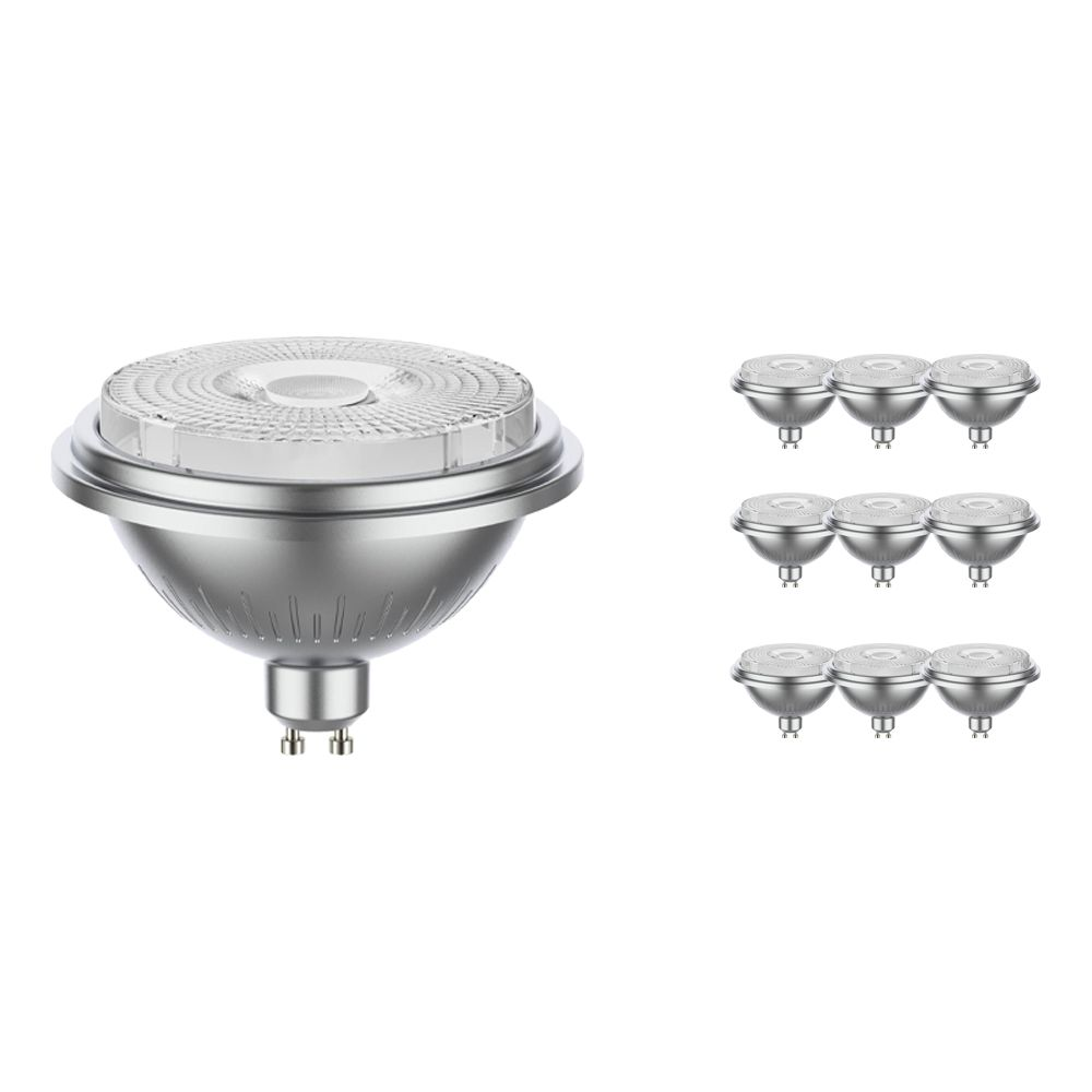 Multipack 10x Noxion LEDspot AR111 GU10 11.5W 927 40D 880lm | Dimmable - Replacer for 75W