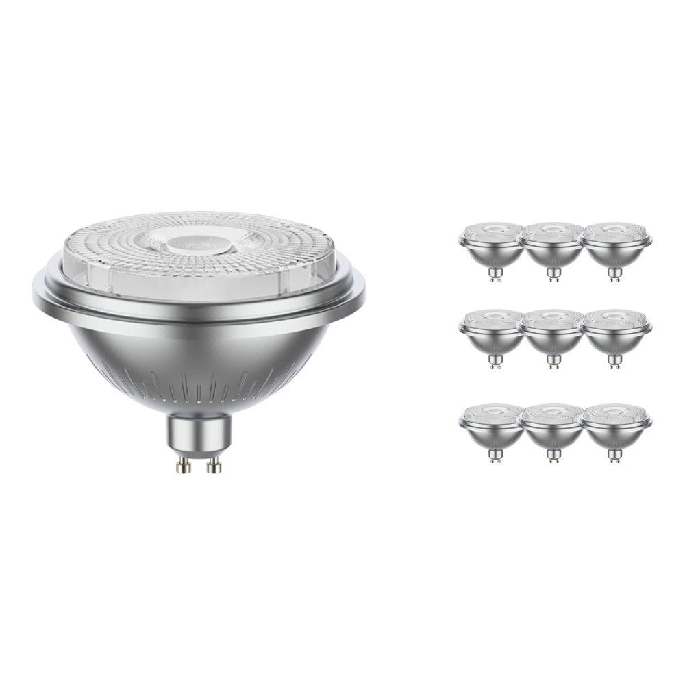Mehrfachpackung 10x Noxion LEDspot AR111 GU10 11.5W 927 40D 880lm | Dimmbar - Extra Warmweiß - Ersatz für 75W