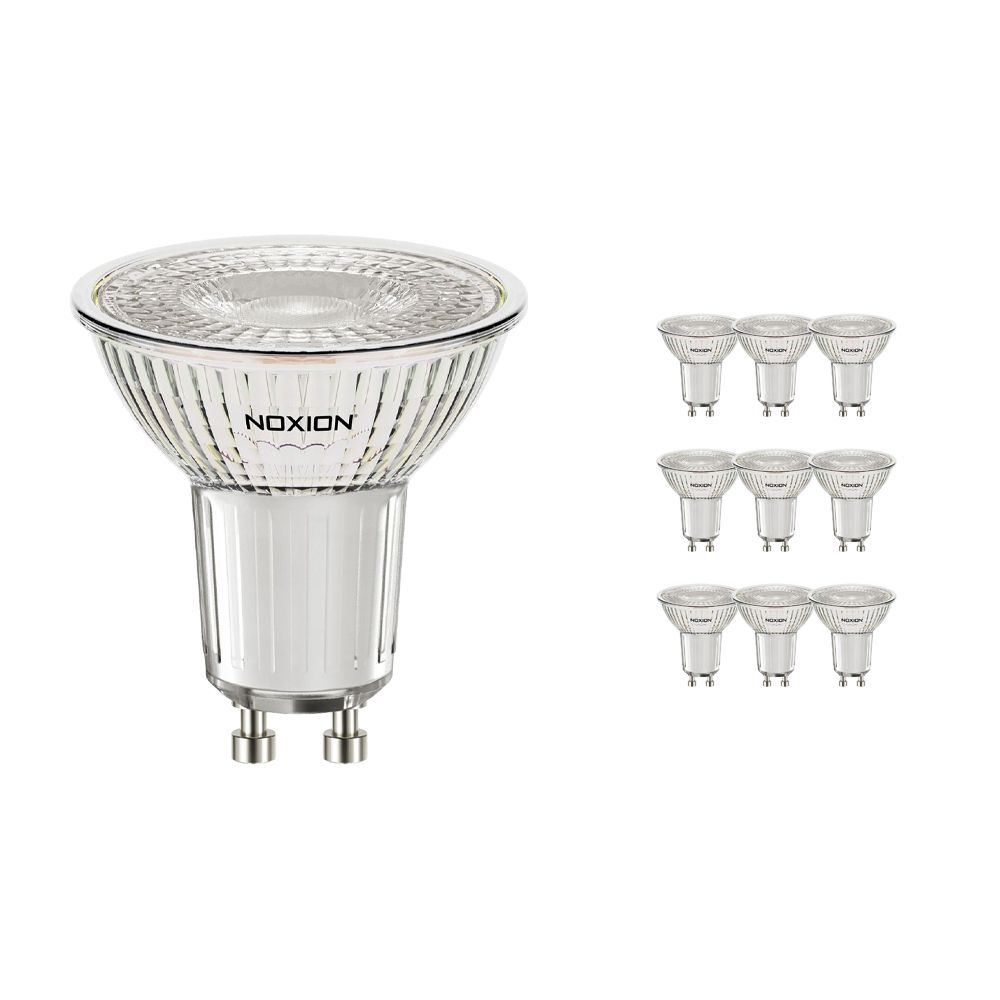 Multipack 10x Noxion LED Spot GU10 4.6W 830 36D 420lm | Dimmable - Warm White - Replaces 50W