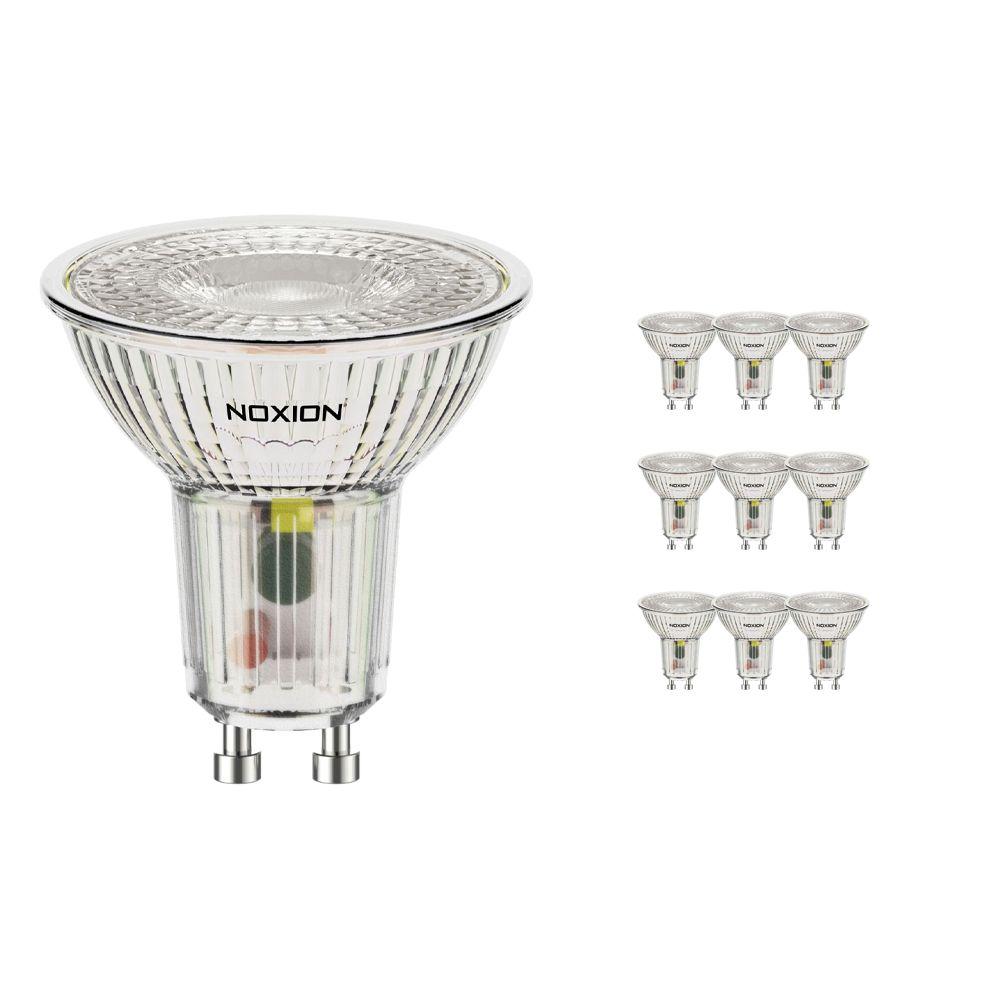 Flerpack 10x Noxion LED Spot GU10 4W 830 36D 390lm | Varm Vit - Ersättare 50W
