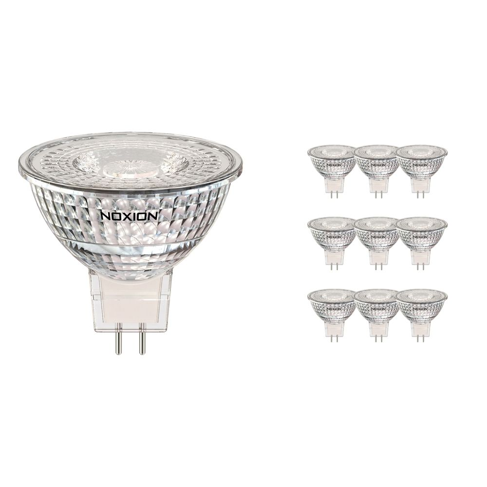 Mehrfachpackung 10x Noxion LED-Spot GU5.3 5W 840 60D 470lm | Dimmbar - Kaltweiß - Ersatz für 35W