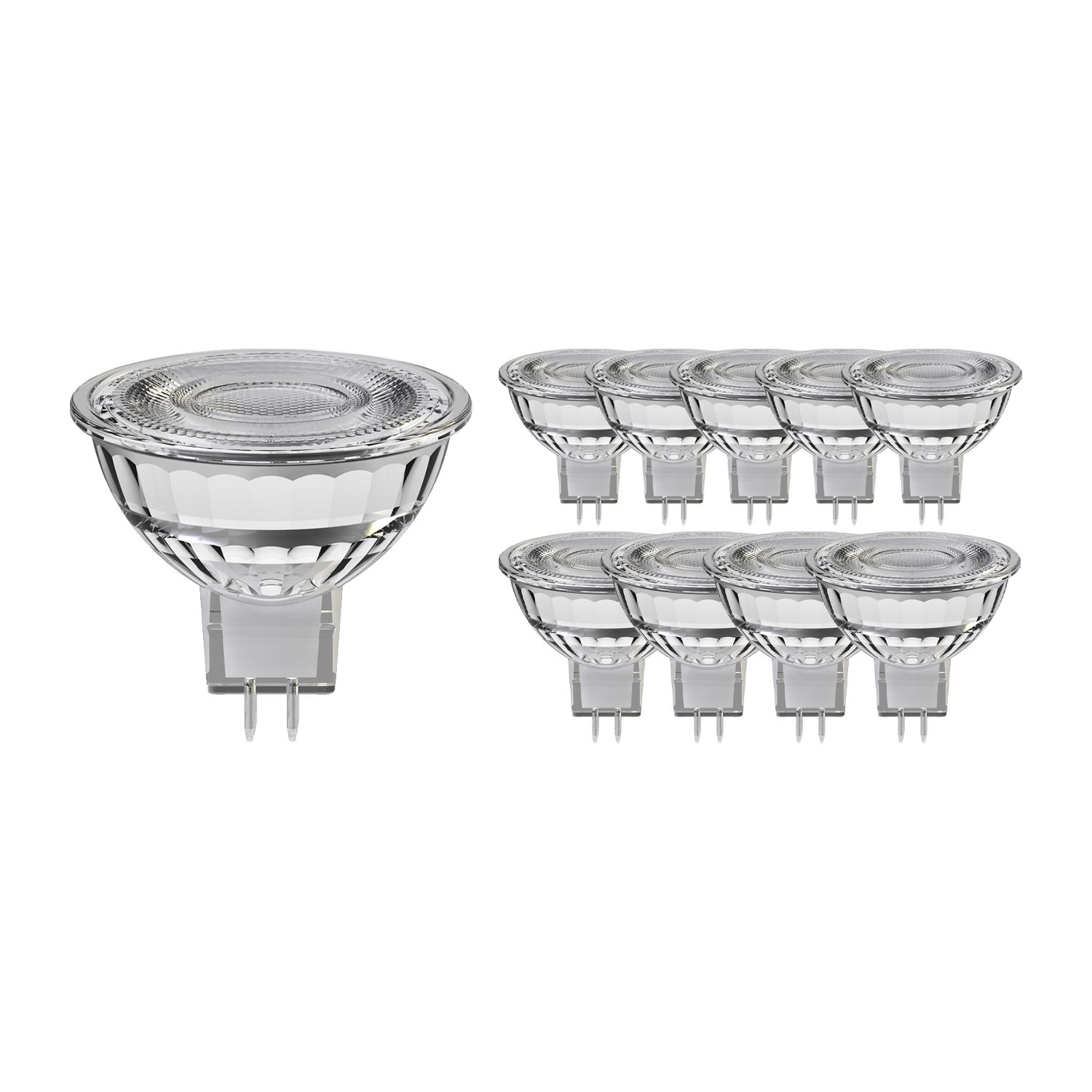 Lot 10x Noxion Spot LED GU5.3 8W 830 60D 660lm | Dimmable - Blanc Chaud - Substitut 50W