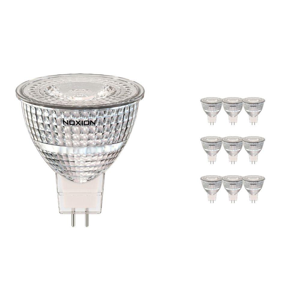 Confezione Multipack 10x Noxion Faretti LED GU5.3 7.8W 827 36D 730lm | Bianco MolaCaldo - Sostitua 50W