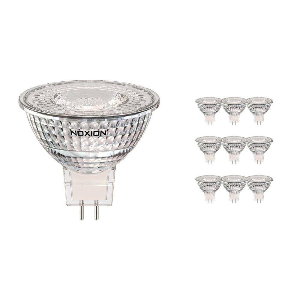 Confezione Multipack 10x Noxion Faretti LED GU5.3 4.5W 827 36D 400lm | Bianco MolaCaldo - Sostitua 35W