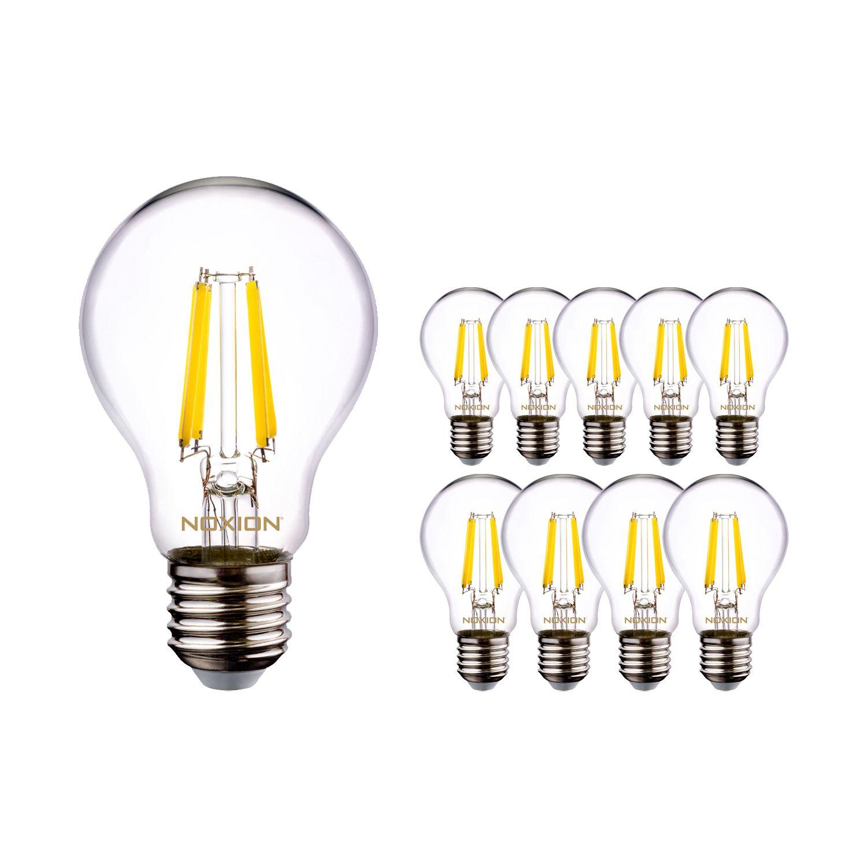 Mehrfachpackung 10x Noxion Lucent Fadenlampe LED Bulb A60 E27 220-240V 8.5W 1055LM CRI80 2700K DIM (ersetzt 75W) | Dimmbar