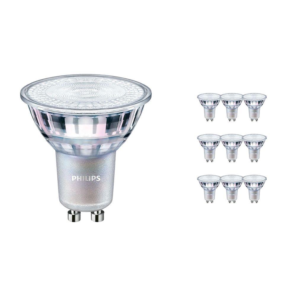 Fordelspakke 10x Philips LEDspot MV Value GU10 4.9W 927 60D (MASTER) | bedste farvegengivelse - ekstra varm hvid - dæmpbar - erstatter 50W