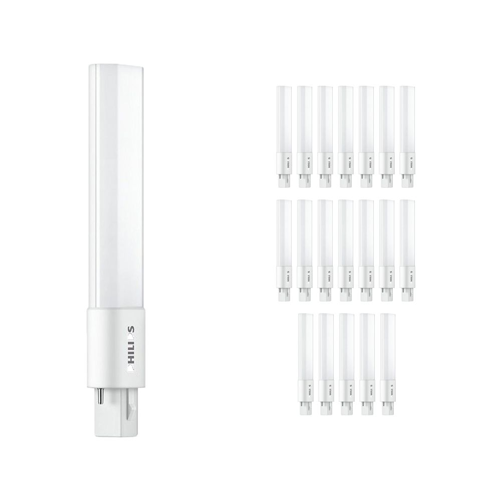 Multipack 20x Philips CorePro PL-S LED 5W 830 | 2 Pin - Replacer for 9W
