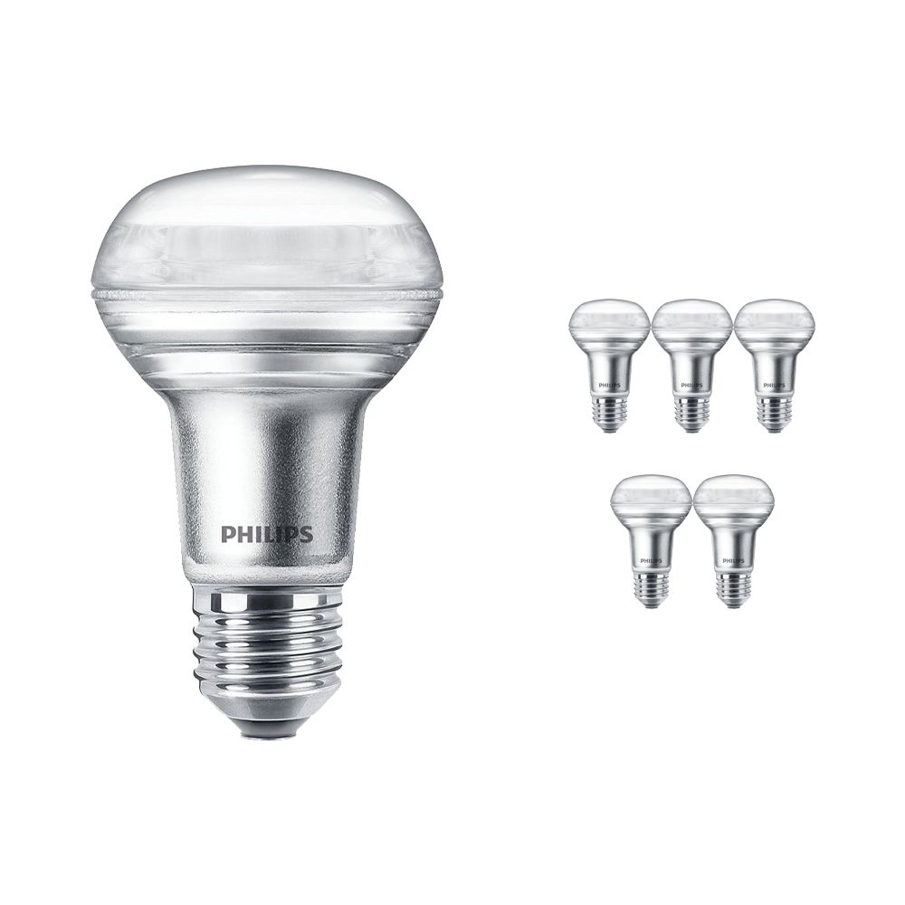 Multipack 6x Philips CorePro LEDspot E27 Reflector R63 4.5W 827 36D | Dimmable - Replacer for 60W