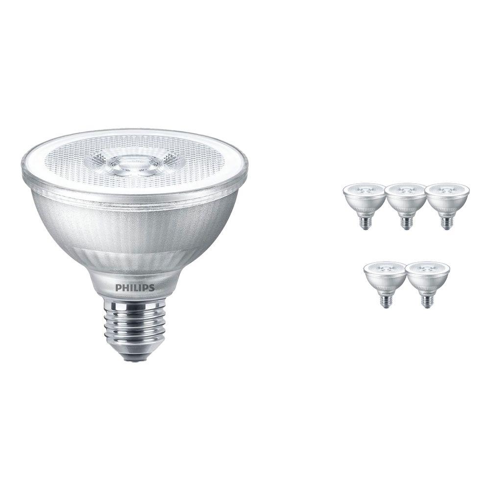 Mehrfachpackung 6x Philips Classic LEDspot E27 PAR30S 9.5 W 827 25D (MASTER) | Dimmbar - Ersatz für 75W