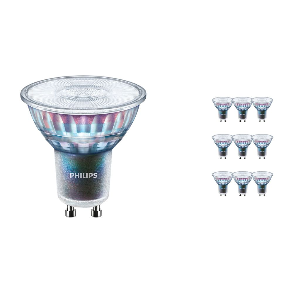 Multipack 10x Philips LEDspot ExpertColor GU10 3.9W 927 25D (MASTER) | Highest Colour Rendering - Dimmable - Replacer for 35W