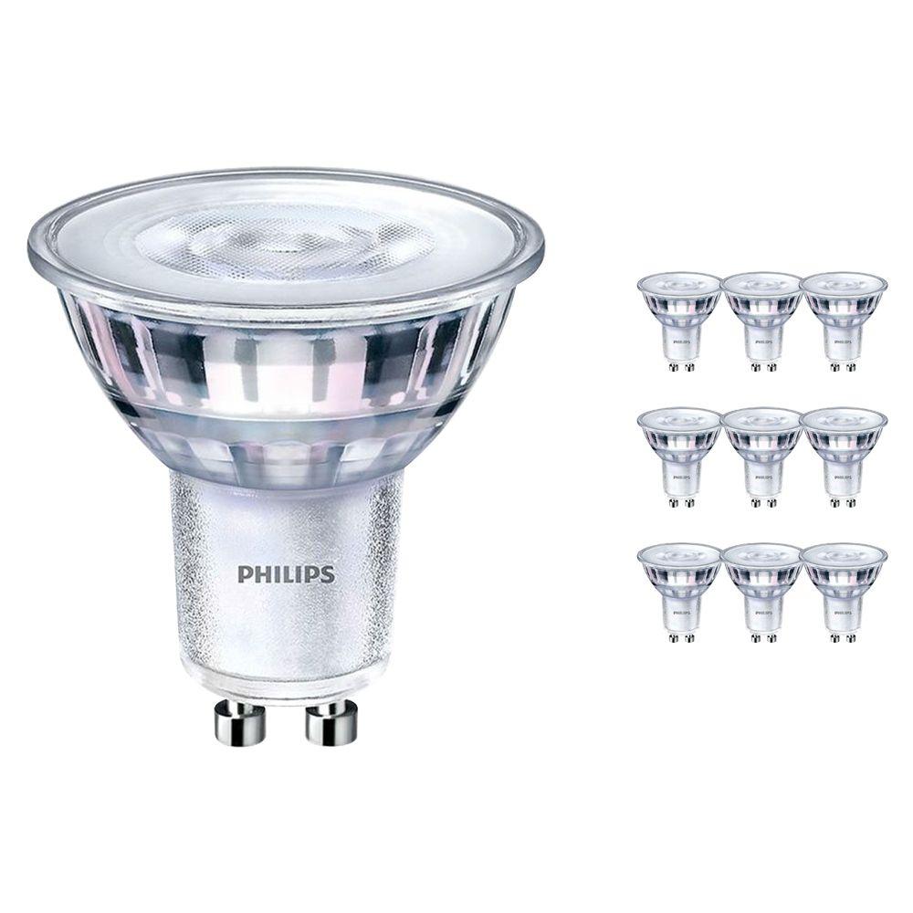 Mehrfachpackung 10x Philips CorePro LEDspot MV GU10 5W 840 36D | Kaltweiß - Dimmbar - Ersatz für 50W