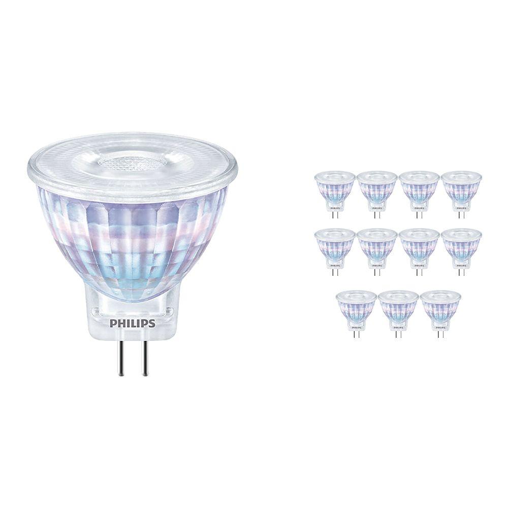 Fordelspakning 12x Philips CorePro LEDspot GU4 2.3W 827 36D | ekstra varm hvit - erstatter 20W