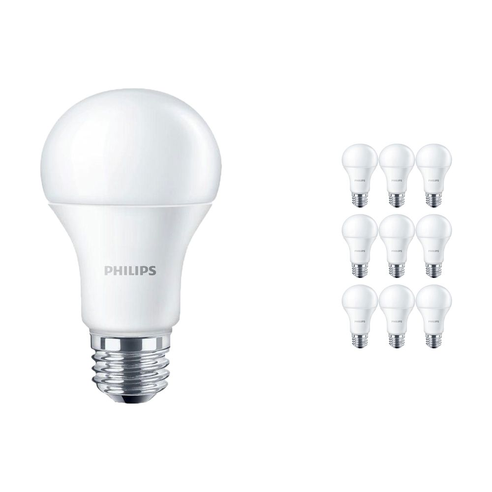 Mehrfachpackung 10x Philips CorePro LEDbulb E27 10.5W 830 Matt | Ersatz für 75W