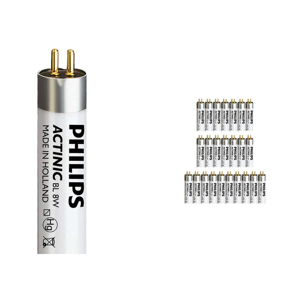 Mehrfachpackung 25x Philips Actinic BL TL 8W 10 G5