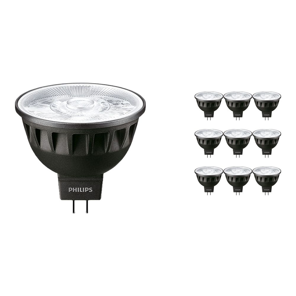 Multipack 10x Philips LEDspot ExpertColor GU5.3 MR16 7.5W 927 36D (MASTER) | Highest Colour Rendering - Dimmable - Replacer for 50W