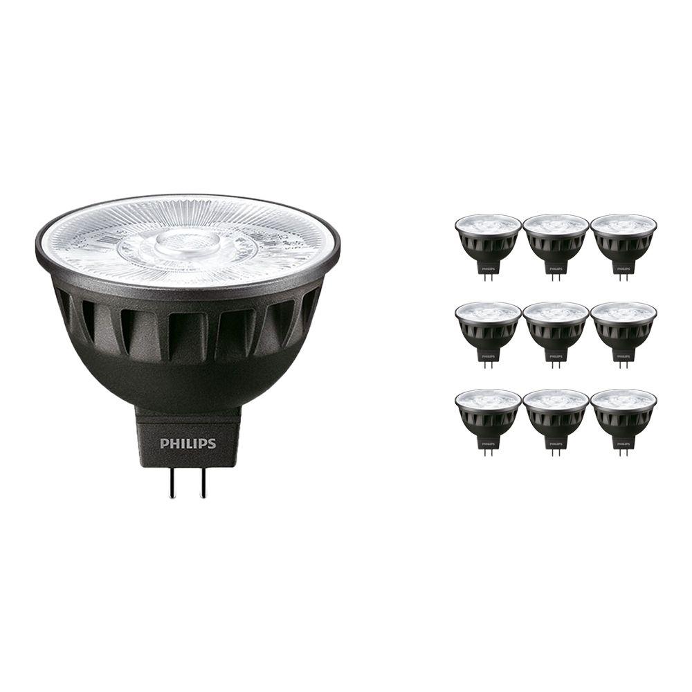 Mehrfachpackung 10x Philips LEDspot ExpertColor GU5.3 MR16 7.5W 927 36D (MASTER) | Höchste Farbwiedergabe - Dimmbar - Ersatz für 50W