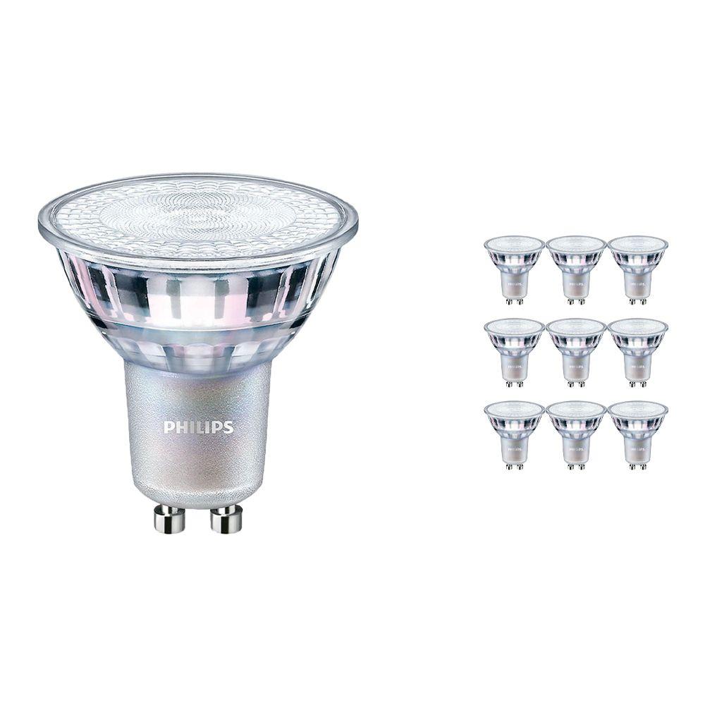 Mehrfachpackung 10x Philips LEDspot MV Value GU10 3.7W 930 36D (MASTER) | Höchste Farbwiedergabe - Dimmbar - Ersatz für 35W