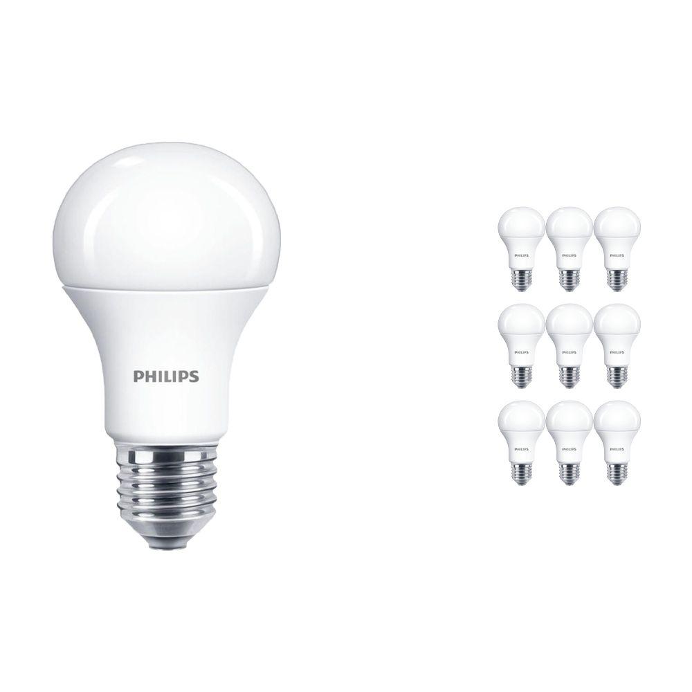Lot 10x Philips CorePro LEDbulb E27 A60 11W 827 Matt | Remplacement 75W