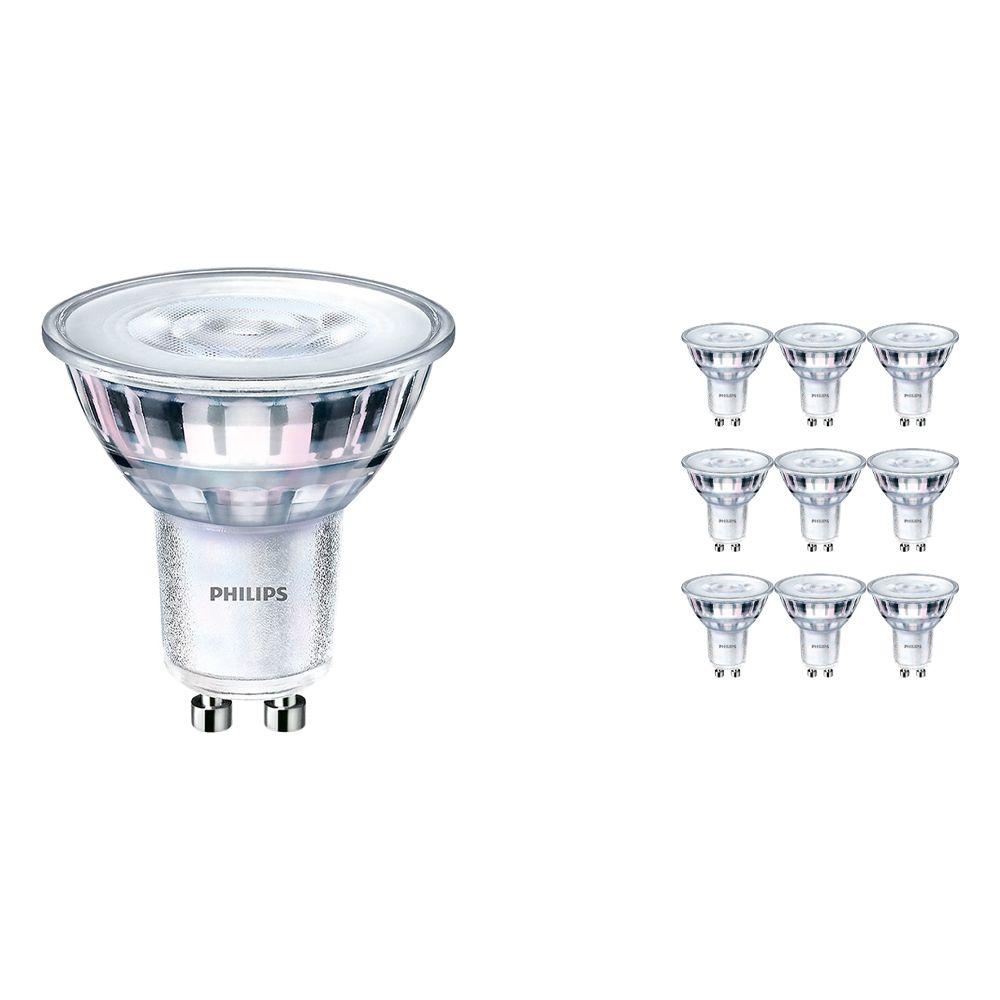 Voordeelpak 10x Philips CorePro LEDspot MV GU10 5W 830 36D   Vervanger voor 65W