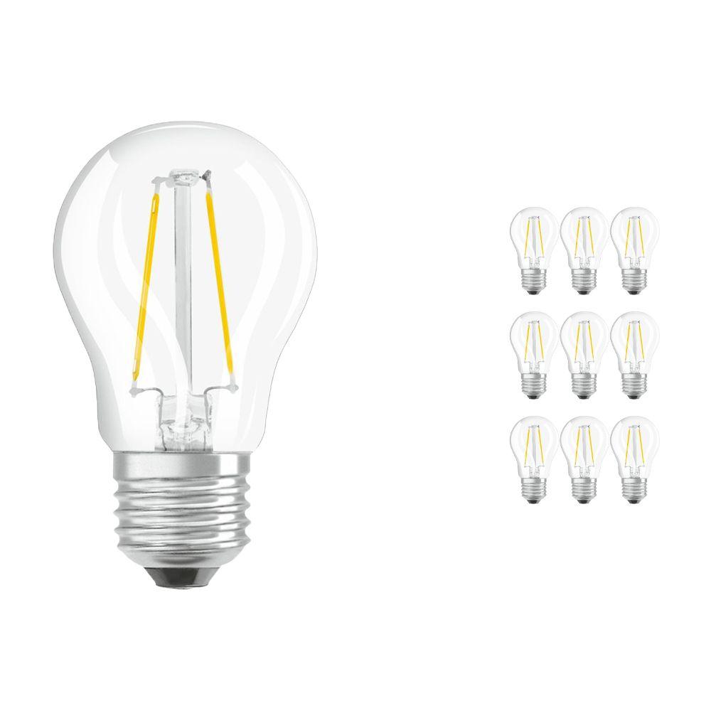 Mehrfachpackung 10x Osram Parathom Retrofit Classic E27 P 1.5W 827 Fadenlampe | Extra Warmweiß - Ersatz für 15W