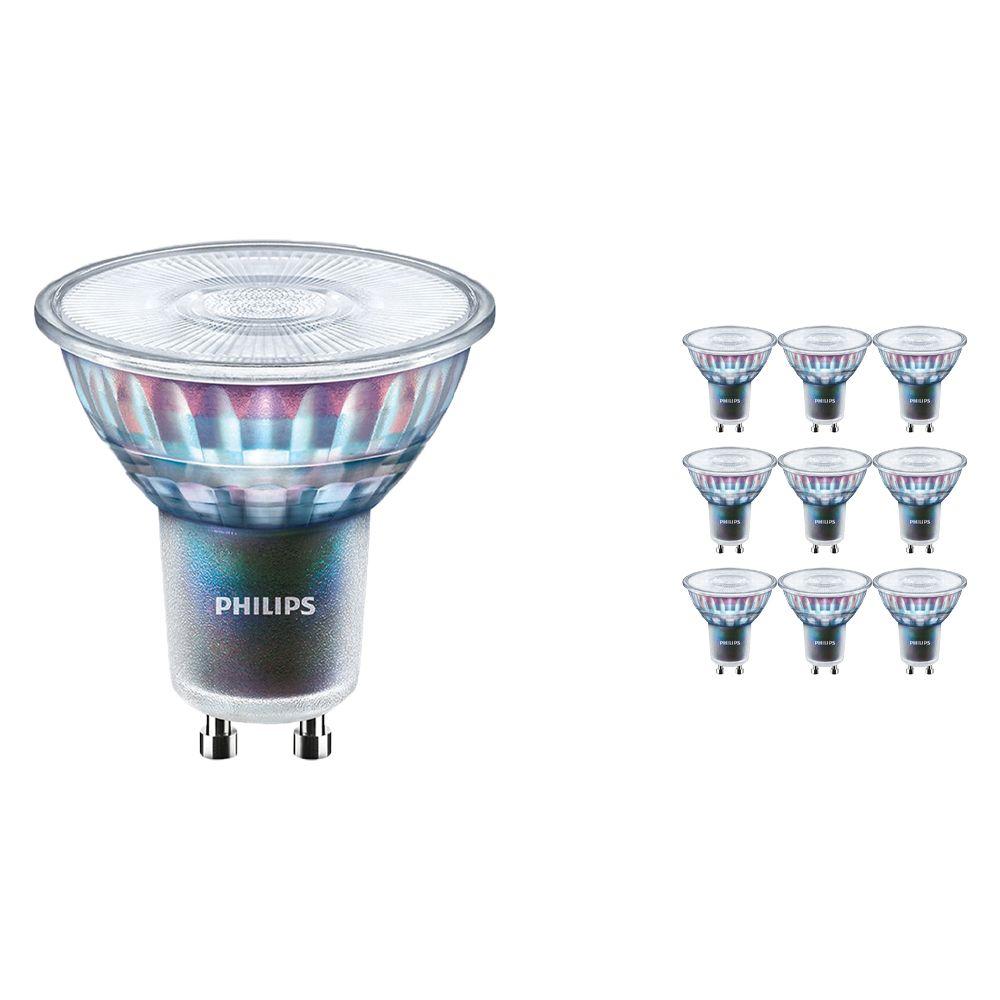 Multipack 10x Philips LEDspot ExpertColor GU10 3.9W 930 36D (MASTER) | Mejor reproducción de color - Luz Cálida - Regulable - Reemplazo 35W