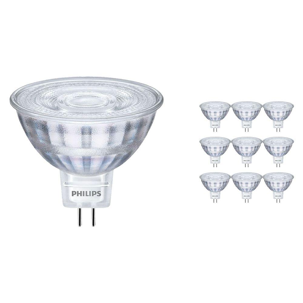 Mehrfachpackung 10x Philips CorePro LEDspot LV GU5.3 MR16 5W 840 36D | Ersatz für 35W