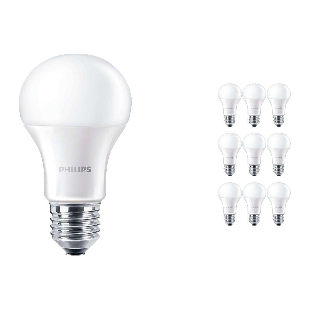 Fordelspakke 10x Philips CorePro LEDbulb E27 A60 13W 830 Matt | erstatter 100W