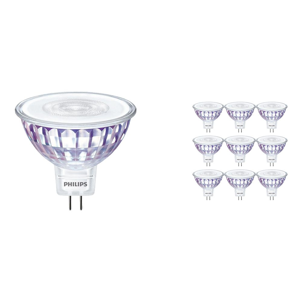 Multipack 10x Philips LEDspot VLE GU5.3 MR16 7W 827 60D (MASTER) | Dimmable - Replacer for 50W