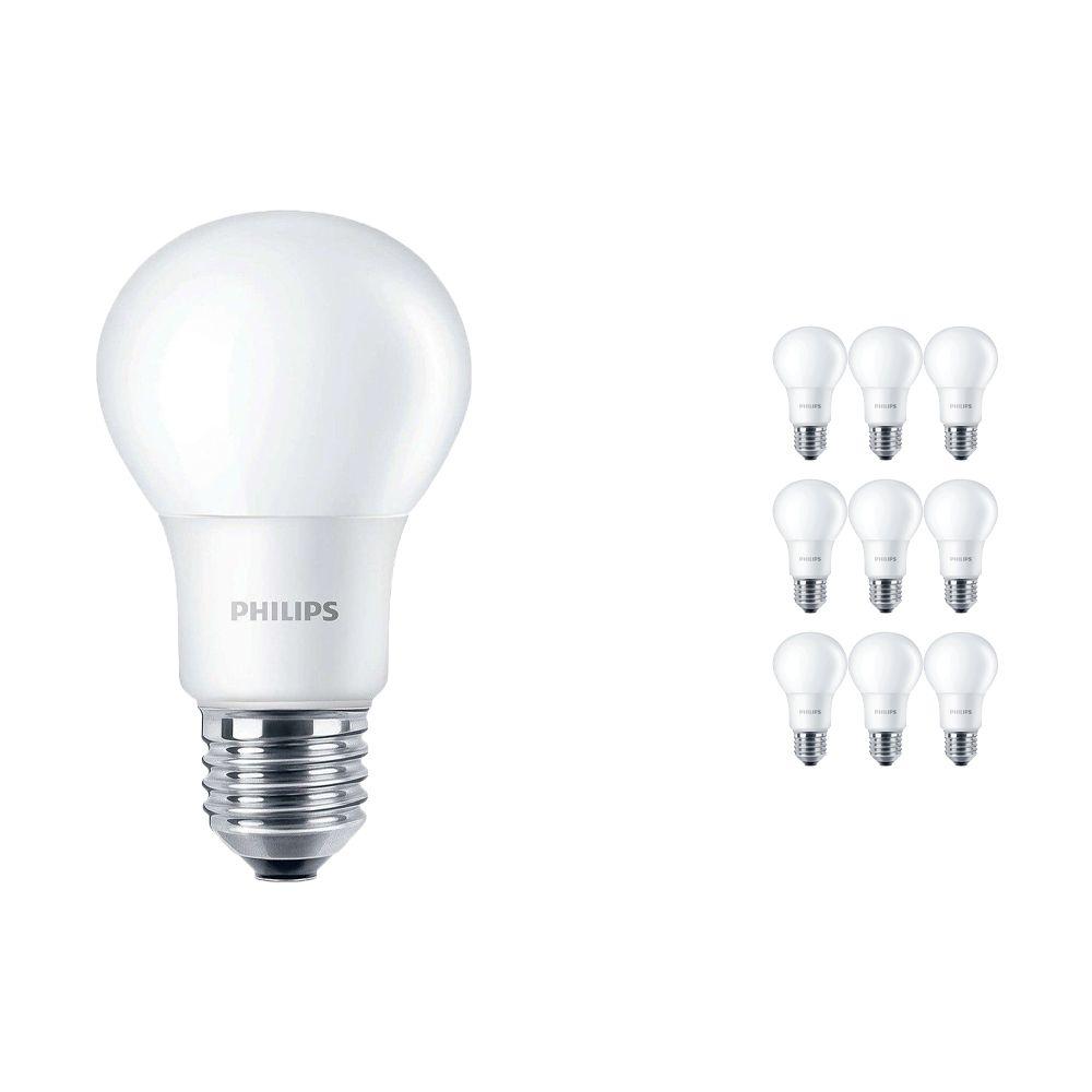 Voordeelpak 10x Philips CorePro LEDbulb E27 A60 7.5W 840 A60 Mat | Vervanger voor 60W
