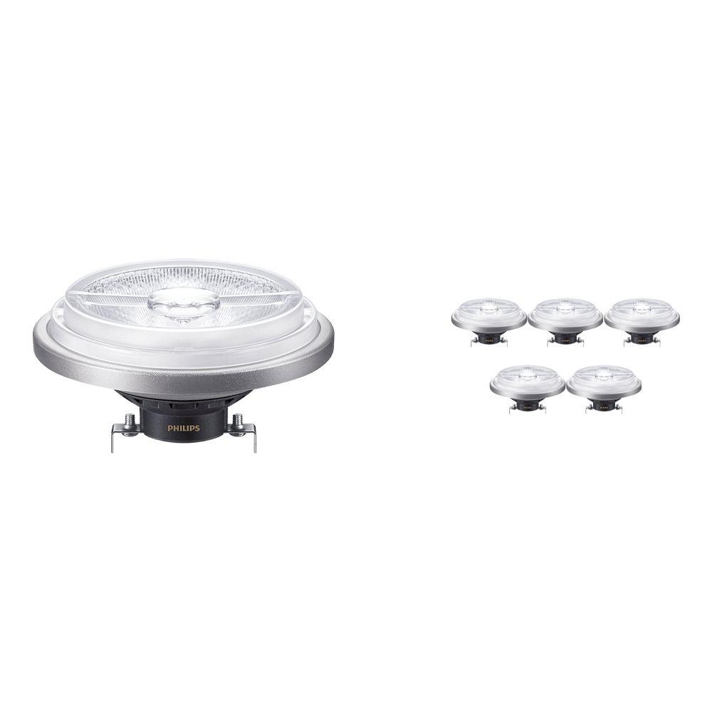 Flerpack 6x Philips LEDspot ExpertColor G53 AR111 (MASTER) 11W 927 24D | Bästa färgåtergivning - Ersättare 50W