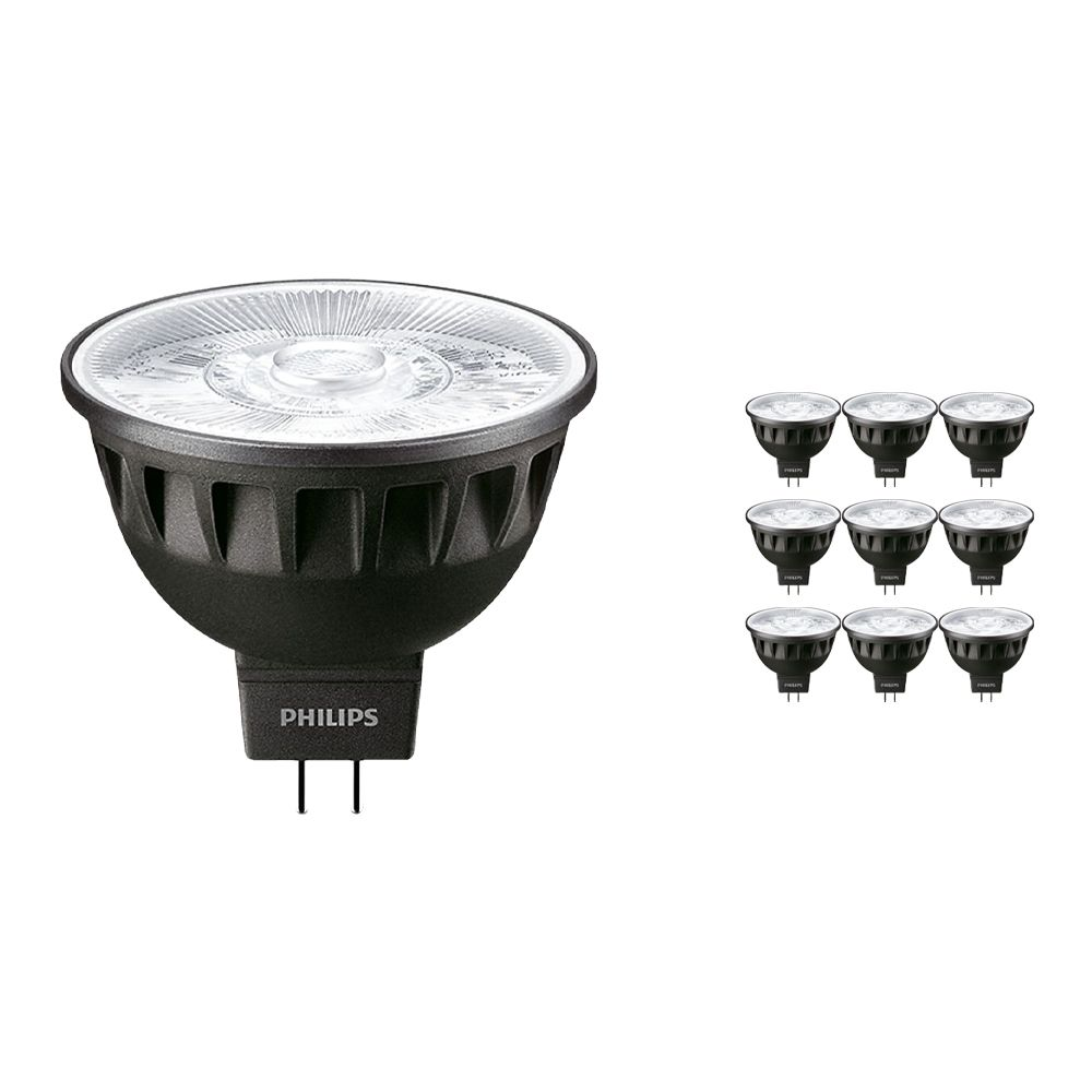 Multipack 10x Philips LEDspot ExpertColor GU5.3 MR16 7.5W 930 36D (MASTER) | Highest Colour Rendering - Dimmable - Replacer for 50W