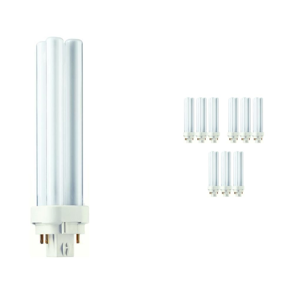 Mehrfachpackung 10x Philips PL-C 18W 840 4P (MASTER) | 4-Pins
