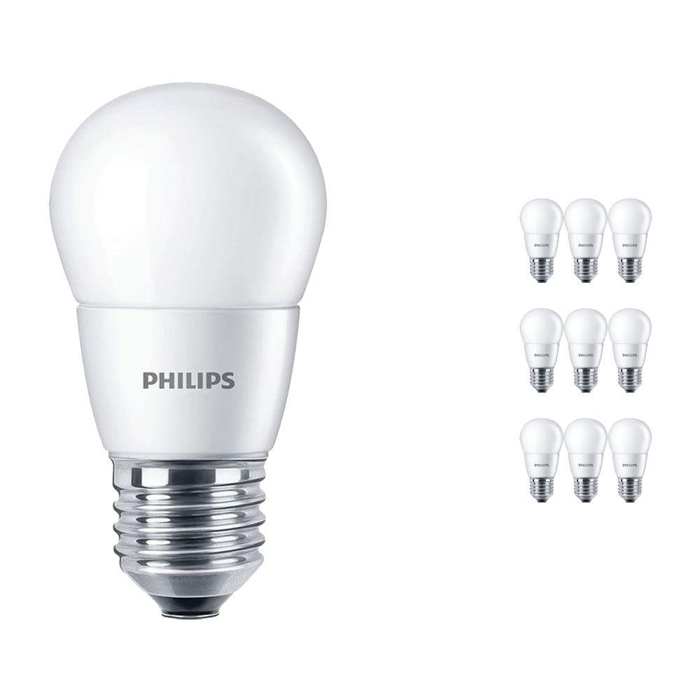 Multipack 10x Philips CorePro LEDlustre E27 P48 7W 827 Matt | Replacer for 60W