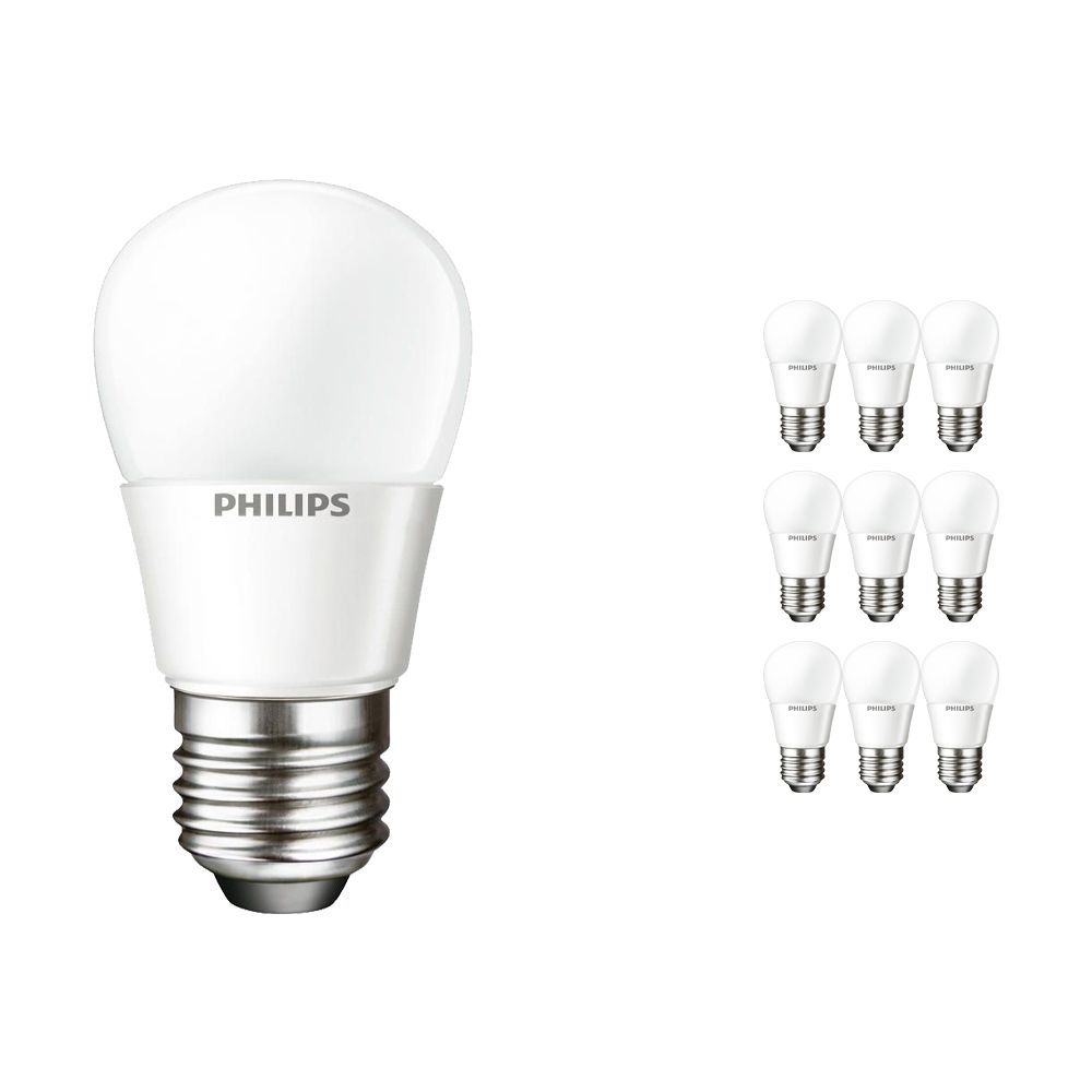 Multipack 10x Philips CorePro LEDluster E27 P45 4W 827 Matt | Replaces 25W