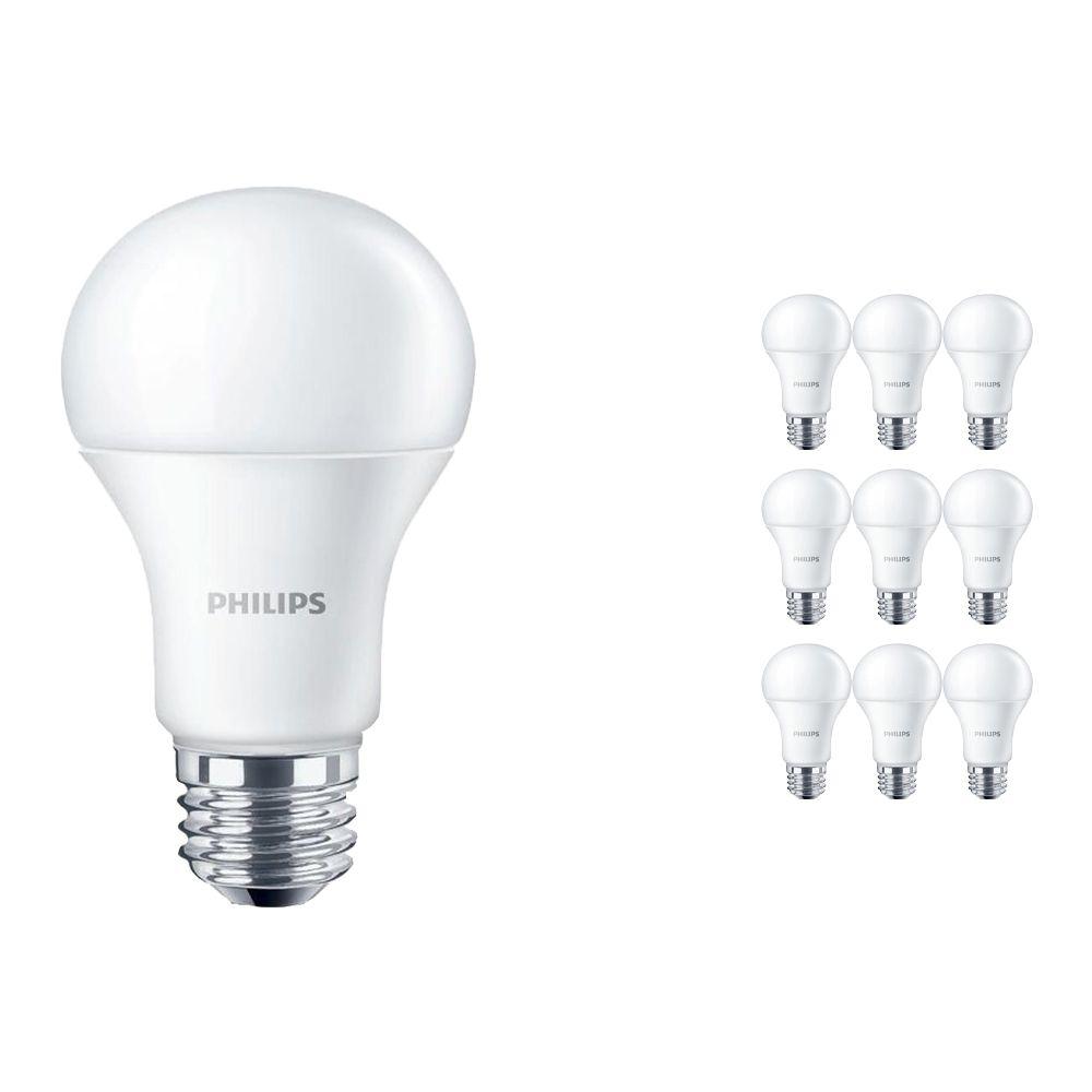 Fordelspakke 10x Philips CorePro LEDbulb E27 A60 10W 840 Matt | erstatter 75W